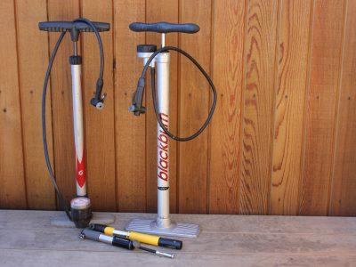 Range of bike pumps