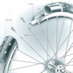Parts of a bike wheel