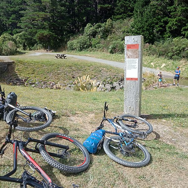 Information board Rimutaka Cycle Trail goRide