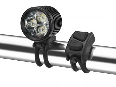 Olympia and remote gemini handlebar bike light goRide