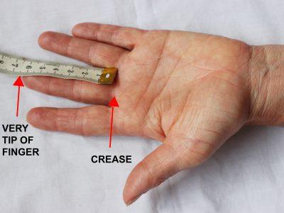 measurement for bike glove finger length words