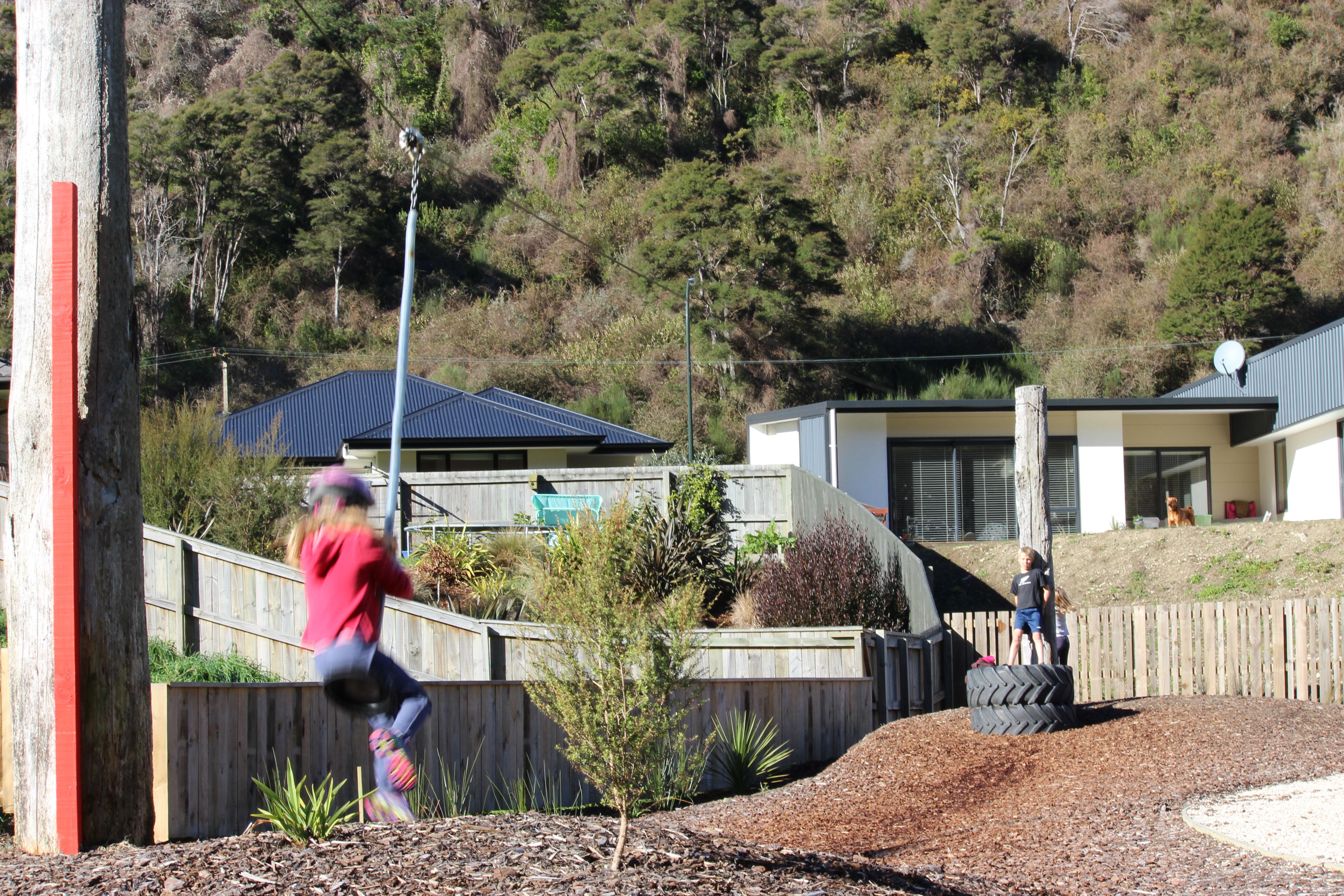 Follow leader riding kids Waimarama sanctuary flyin fox goRide
