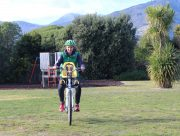 Yepp Mini A-Head Adaptor - riding with kids on a mountain bike