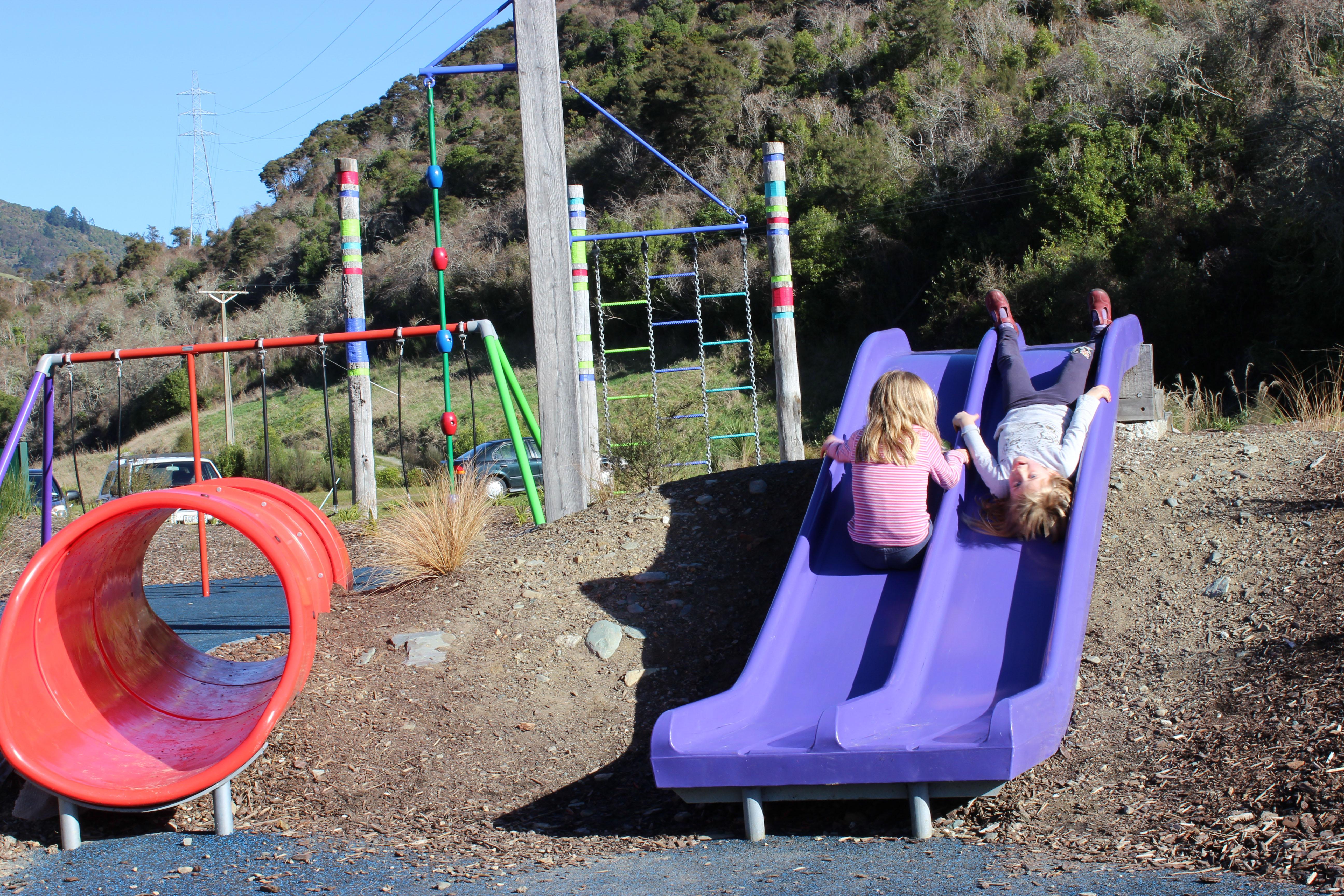 follow leader riding kids waimarama sanctuary slide goRide