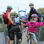 Family riding with a touring saddle & 3/4 padded pant combo