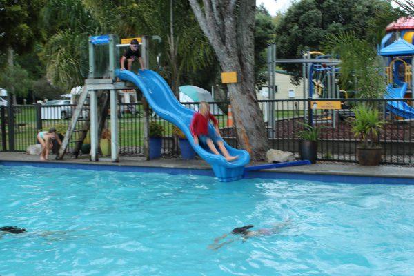 get inspired kids biking Nelson Kaiteriteri New Zealand Great Taste Bike Trail  Top 10 Motueka Holiday Park pool slide fun goRide