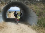Trailing 1/2 bike & helmet combo - Otago Rail Trail, NZ