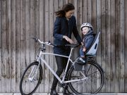 Rear child seat & toddler helmet - town riding