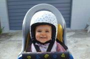 egg helmet & skin - rear kids bike seat in traffic