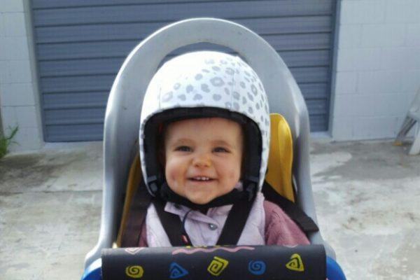 Egg Helmet on 1yr old