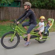 Rear cargo bike. Riding with kids attached. goRide