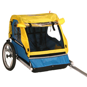 Bike Trailer.  Riding with kids attached. goRide