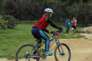 A riding position pump track goRide