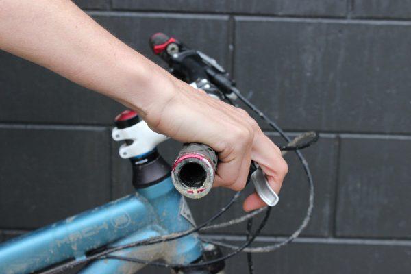 Riser bar hand position. goRide