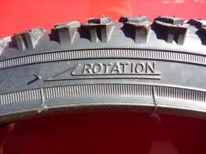 Bike tyre rotation. Changing a bike tyre. goRide