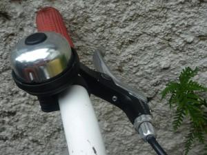 Kids bike showing a grub screw that needs a small allen key.