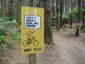 Examples of some great on the trail signs.