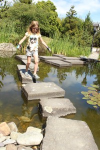 Atatwhai Shared Pathway rock hopping Miyazu gardens family biking goride