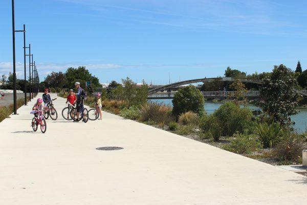 Atawhai shared pathway family riding trafalgar goride