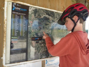 Map Board. Taupo Mountain Bike Park. goRide