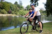 Mid mount kids seat & recreation helmet combo - go explore