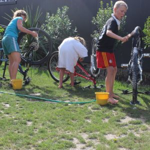 bike cleaning for the kids.goRide