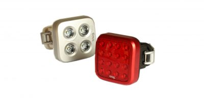 Knog visibility light set that has a really easy to use attaching system.