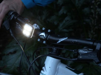 Knogg Blinder front  light visibility on the bike goRide