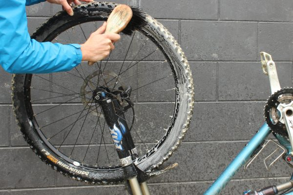 Apply a general bike cleaner then lather up with your brush