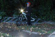 youth traffic helmet & visibility light set
