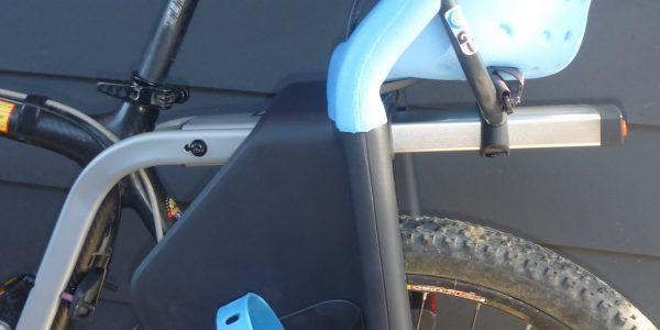 Seat post attachment child bike seat. Yepp Maxi. goRide