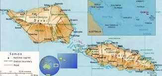 Map of Savaii, Samoa. goRide