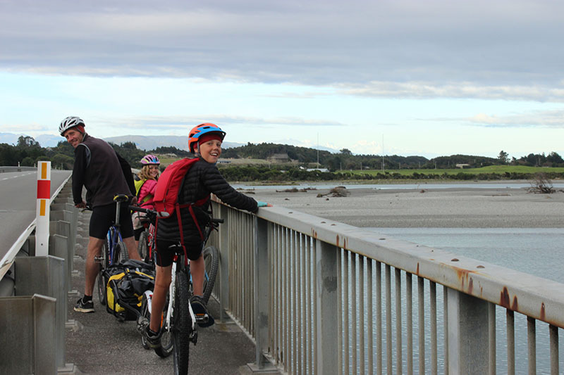 Crossing Hokitika River Westcoast Wilderness Trail goRide