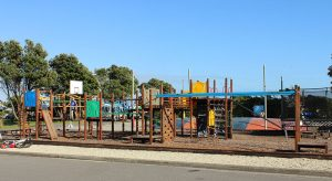 Westcoast Wilderness trail Greymouth Top 10 Holiday Park playground goRide