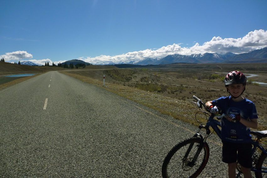 Alternate route Tekapo canals. Alps to Ocean. goRide