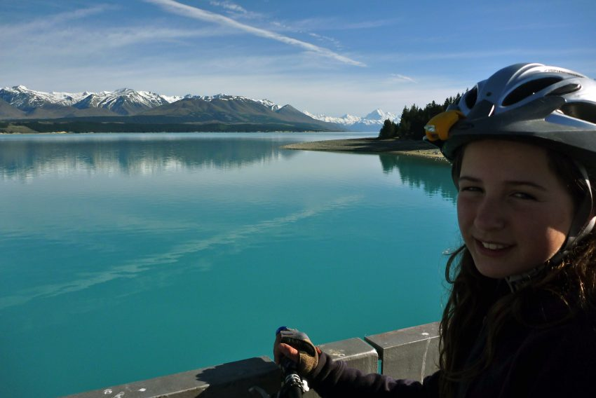 Lake Pukaki, Mt Cook. Alps to Ocean. goRide