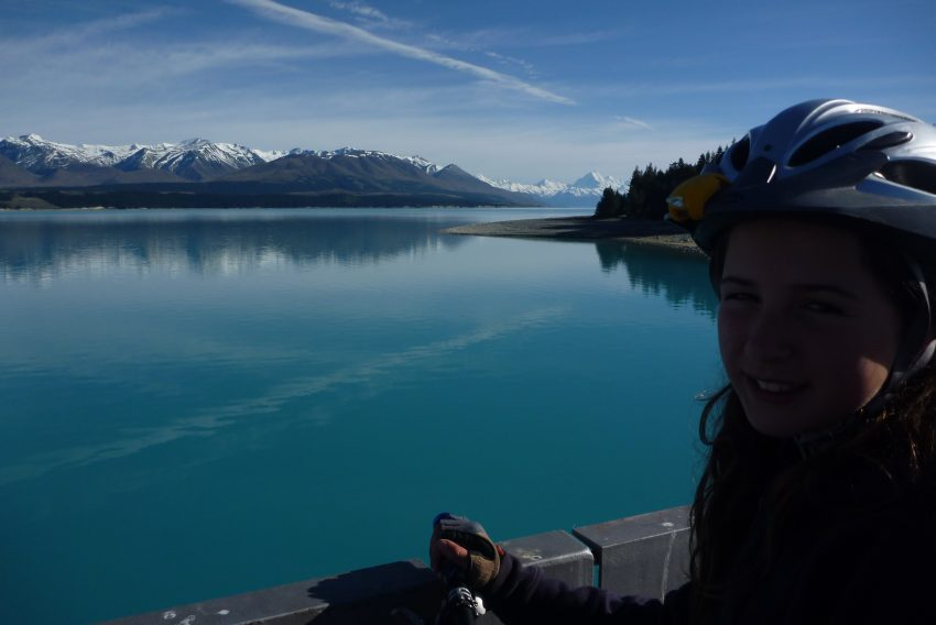Rhea, 11yrs on the shores of Lake Pukaki.