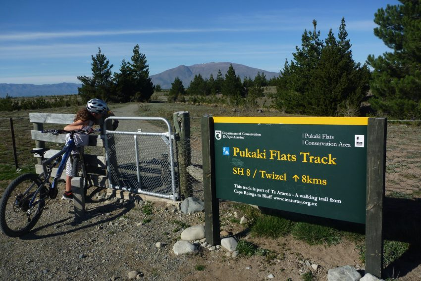Pukaki Flats Track. Alps to Ocean. goRide