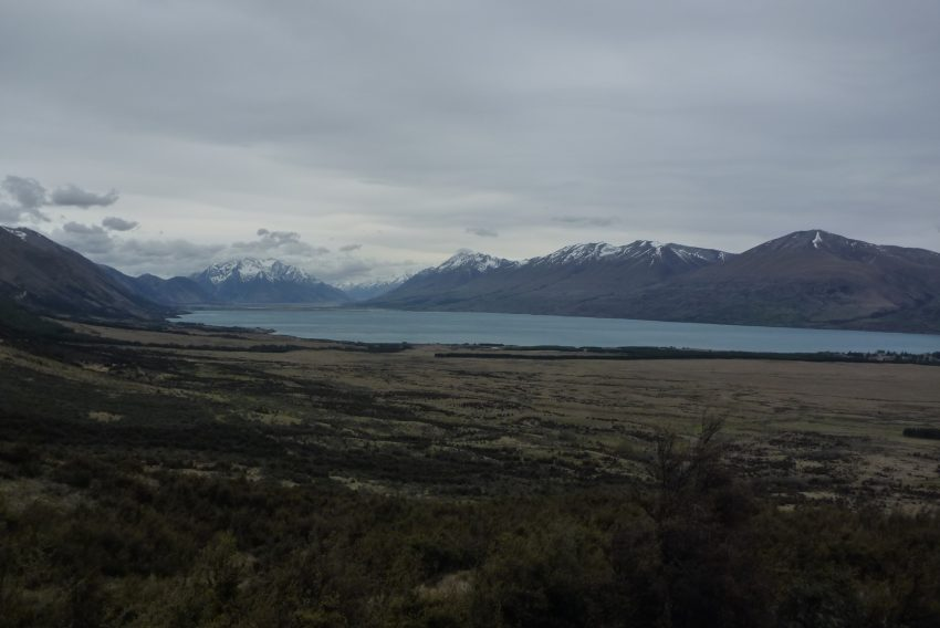 Lake Ohau from Tambrae Track. Alps to Ocean. goRide