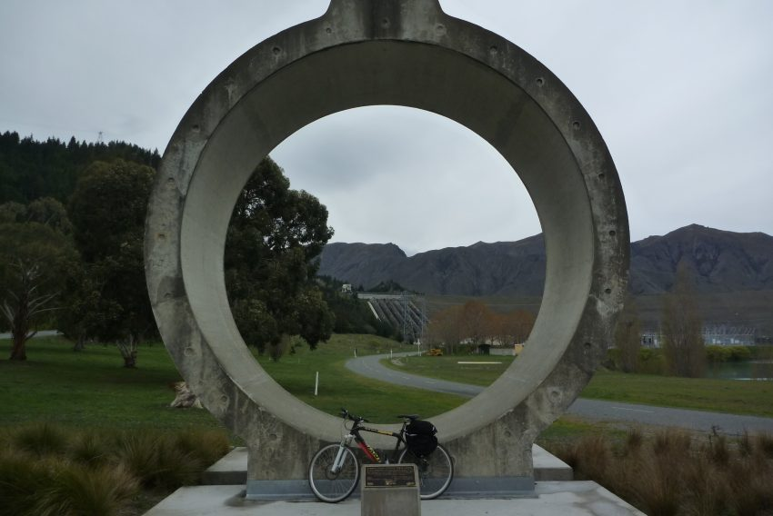 Benmore Dam Pipe. Alps to Ocean. goRide