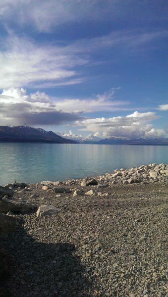 Mt Cook, Lake Pukaki. Alps to Ocean. goRide