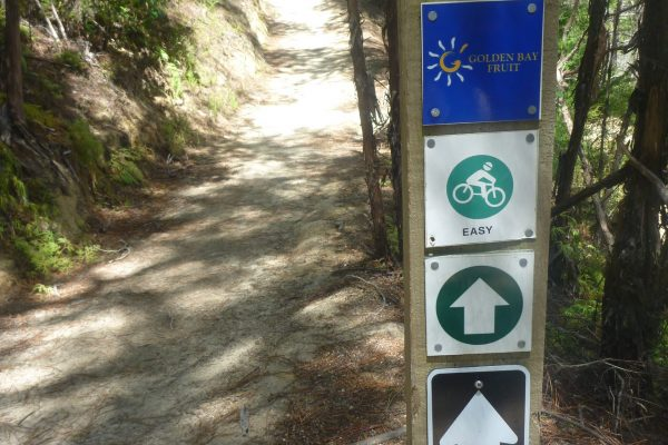 Trail signs. Kaiteriteri Mountain Bike park. goRide