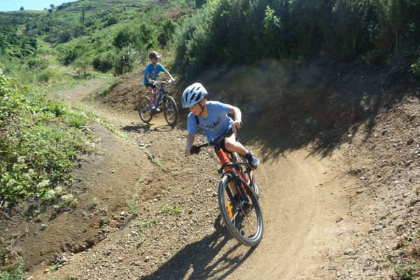 Crazy Horse - big wide corners for learning.  Codgers Mountain Bike Park with kids