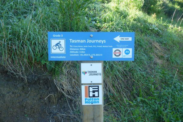 Codgers Mountain Bike Park - signage. goRide