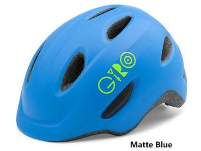 Giro Scamp Matte Blue Lime kids bike helmet 500w