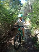 Trailing 1/2 bike & helmet combo - trail riding