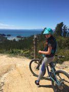 mountain bike saddle & fingerless glove - summer riding