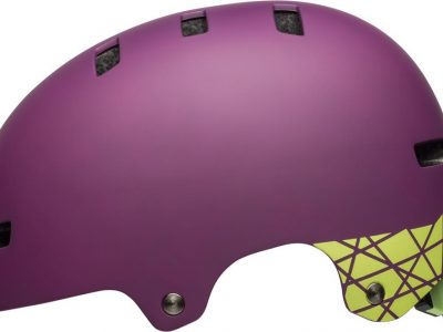 Plum. Bell Local womens bike helmet.goRide