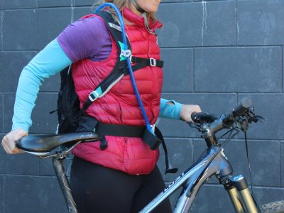 Hydration reservoir and backpack biking goRide