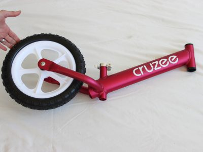 Cruzee balance bike frame and back wheel